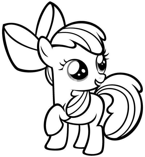 My Little Pony Kleurplaat Paarden Info