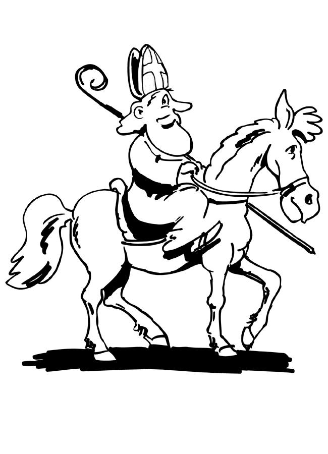 Paard Sinterklaas Kleurplaat